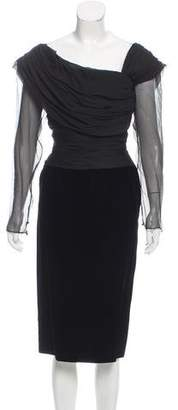 Oscar de la Renta Vintage Velvet Dress