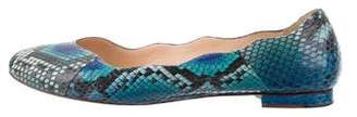 Alexandre Birman Python Round-Toe Flats