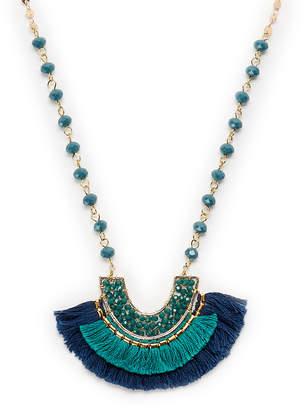 Panacea Pannee By Half-Moon Pendant Beaded Necklace