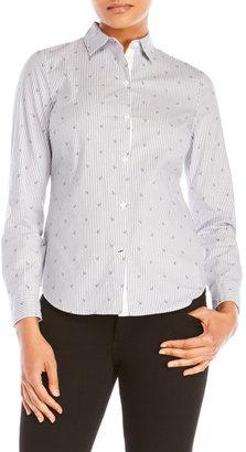 nautica Anchored & Striped Shirt $59.50 thestylecure.com