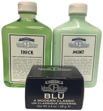 John Allan's Thick Shampoo, Mint Conditioner & Pomade Blu Set