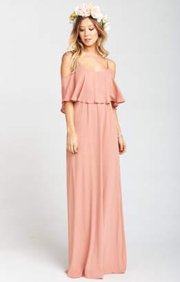 Show Me Your Mumu Caitlin Ruffle Maxi Dress ~ Rustic Mauve Crisp