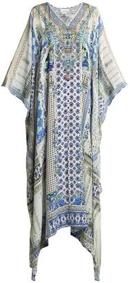 Camilla Salvador Summer V-neck silk kaftan
