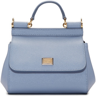 Dolce & Gabbana Blue Micro Miss Sicily Bag $995 thestylecure.com