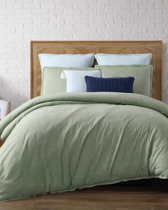 LOFT Brooklyn Loom Chambray Green Twin Extra Long Comforter Set