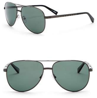 Ermenegildo Zegna 56mm Aviator Metal Frame Sunglasses