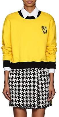 Off-White Women's Singer-Graphic Cotton Crop Sweatshirt