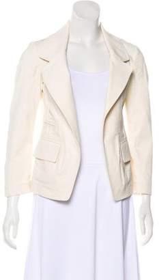 Donna Karan Canvas Notch-Lapel Jacket