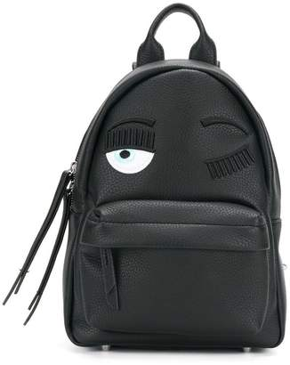 Chiara Ferragni logo patched backpack