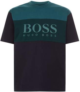 BOSS ORANGE Colour Block Logo T-Shirt