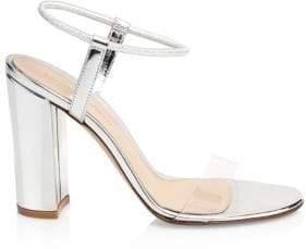 Gianvito Rossi Metallic Leather Block Heels