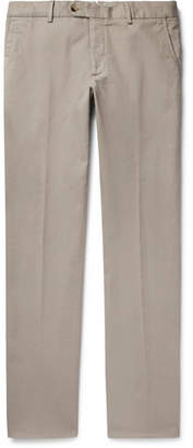 Caruso Slim-Fit Stretch-Cotton Twill Trousers