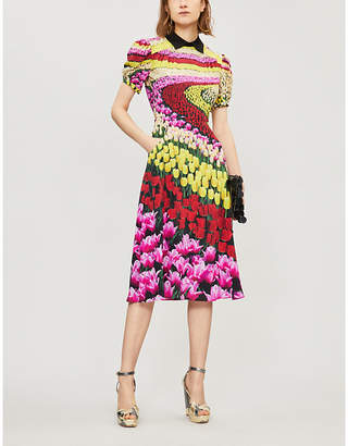 Mary Katrantzou Osprey tulip-print silk dress