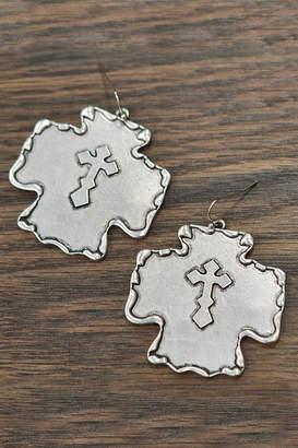 Silver Cross Jchronicles Western-Antique Silver-Cross Earrings