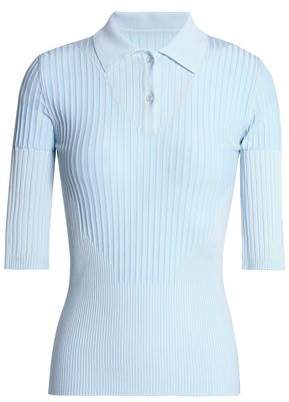 Maison Margiela Ribbed-Knit Polo Shirt