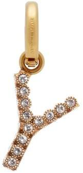 Burberry Y Crystal Embellished Letter Charm - Womens - Crystal