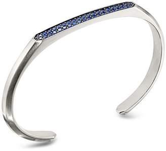 David Yurman Streamline Cuff Bracelet with Blue Sapphires