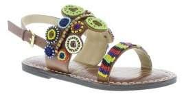 Sam Edelman Gigi Monica Beaded Faux-Leather Sandals