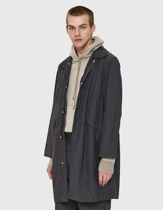 Our Legacy Reduced M51 Coat in Black Soft Nylon Ripstop