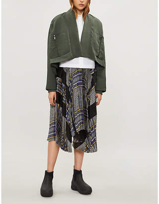 Sportmax Temide shawl-lapel cropped shell jacket