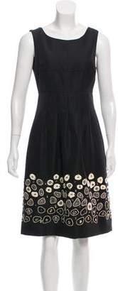 Lela Rose Embellished Sleeveless Dress