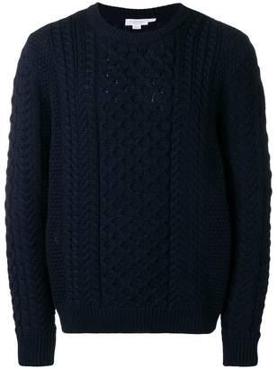 Sunspel crewneck cable knit sweater