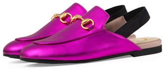 53f1a8f228cb7 Gucci Princetown Junior Leather Horsebit Mule Slide