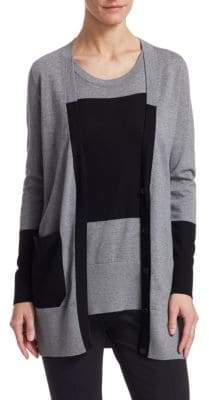 Akris Punto Colorblock Cardigan