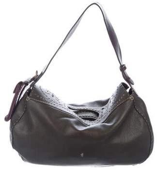 Henry Beguelin Butterfly Embellished Leather Shoulder Bag