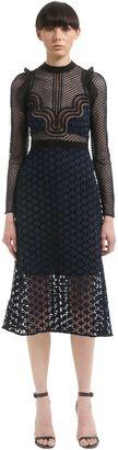Paneled Star Guipure Lace Midi Dress $545 thestylecure.com