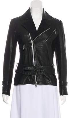 Rag & Bone Leather Long Sleeve Jacket