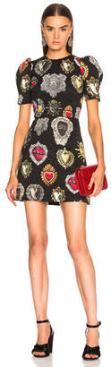 Dolce & Gabbana Brocade Printed Mini Dress