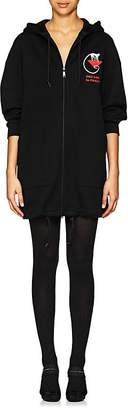 Prada Women's Cotton-Blend Jersey Oversized Hoodie Dress