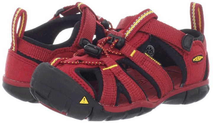 Keen Kids - Seacamp CNX (Toddler/Little Kid) (Chili Pepper/Dark Shadow) - Footwear