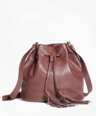 Brooks Brothers Leather Bucket Bag
