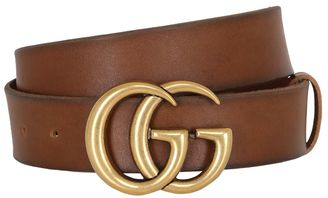 40mm Gg Marmont Leather Belt $420 thestylecure.com
