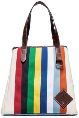 J.W.Anderson multicoloured belt strap canvas tote bag