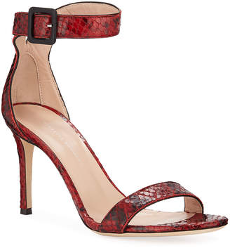 688c5308a385 Giuseppe Zanotti Red Leather Women s Sandals - ShopStyle