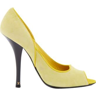 0d48294e162 Louis Vuitton Yellow Suede Heels