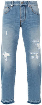 Ermanno Scervino distressed cropped jeans