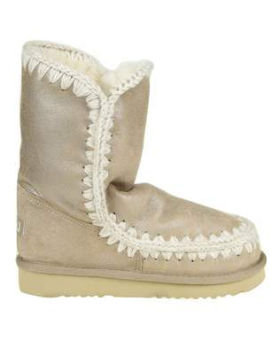 Mou Sneakers eskimo 24 In Laminated Leather Beige Color