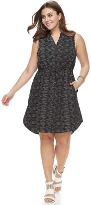 Apt. 9 Plus Size Drawstring Shirtdress