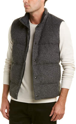 Vince Quilted Wool-Blend Down Vest