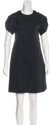 Marni Pleat-Accented Short Sleeve Dress