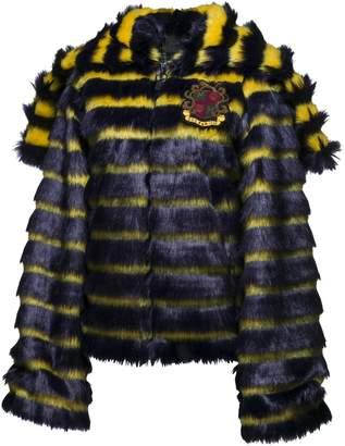FENTY Women's Faux Fur Hooded Jacket