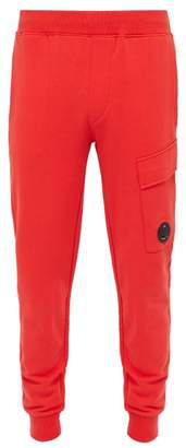 C.P. Company Lens Loopback Cotton Track Pants - Mens - Red