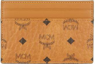 MCM Visetos Coated Canvas Card Holder