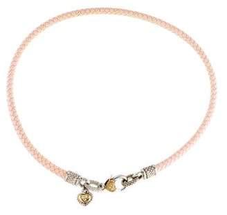 Judith Ripka Diamond Leather Necklace