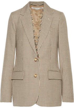 Stella McCartney - Checked Wool Blazer - Camel $1,450 thestylecure.com