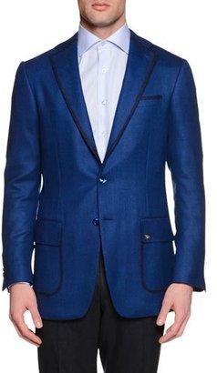 Stefano Ricci Cashmere-Blend Two-Button Sport Coat, Blue $5,895 thestylecure.com